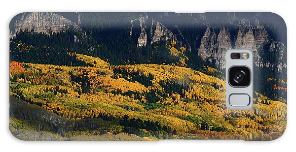 Late Afternoon Light On Aspen Groves At Silver Jack Colorado Galaxy Case
