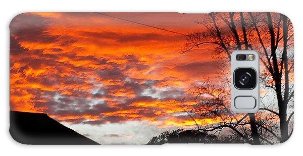 Late Autumn Sunset Galaxy Case
