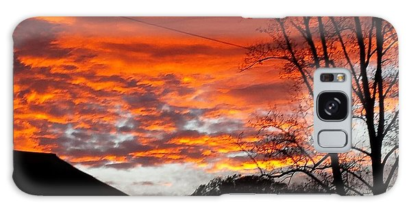 Late Autumn Sunset Galaxy Case