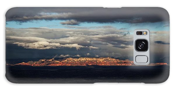 Late Light On Red Rocks With Storm Clouds Galaxy Case