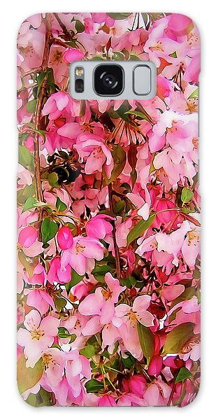 Late Snow Early Flowers Galaxy Case