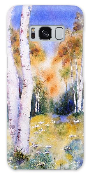 Late Summer Birches Galaxy Case