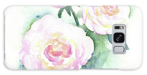 Late Summer Roses Galaxy Case