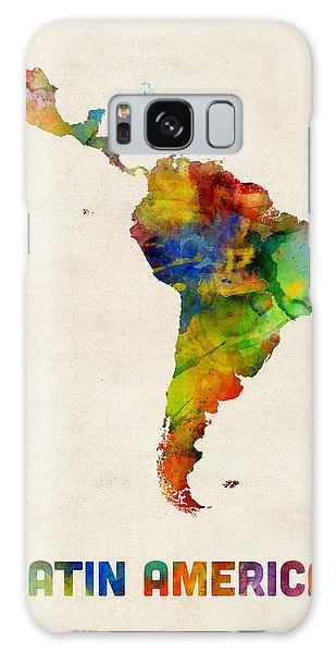 Latin America Watercolor Map Galaxy Case