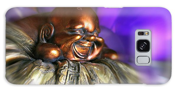 Laughing Buddha Violet Purple Flame Galaxy Case
