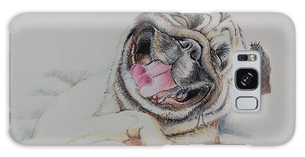 Laughing Pug Galaxy Case