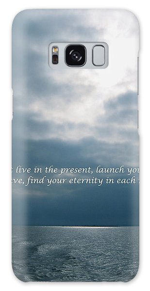 Launch Yourself On Every Wave Galaxy Case by Deborah Dendler