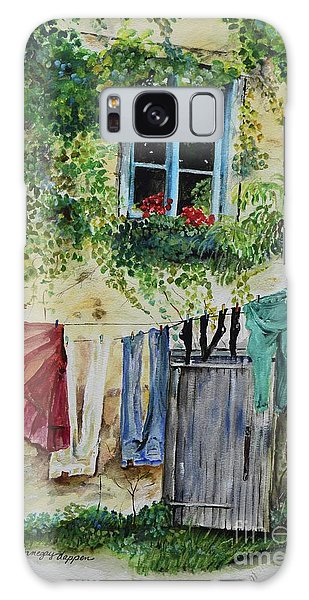 Galaxy Case featuring the painting Laundry Day In France by Jan Dappen