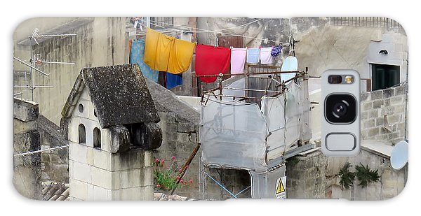 Laundry Day In Matera.italy Galaxy Case by Jennie Breeze