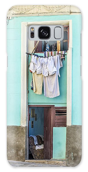 Galaxy Case featuring the photograph Laundry Day by Lou Novick