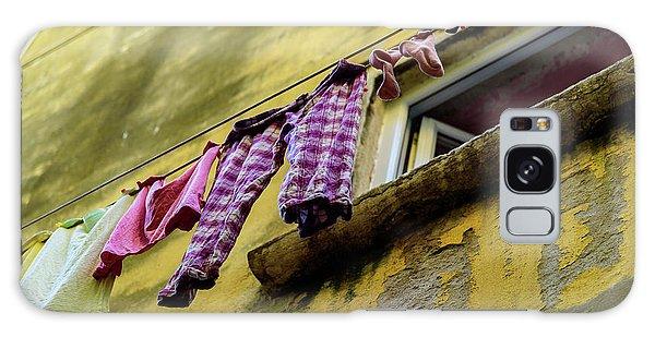 Laundry Hanging In Rovinj, Croatia Galaxy Case
