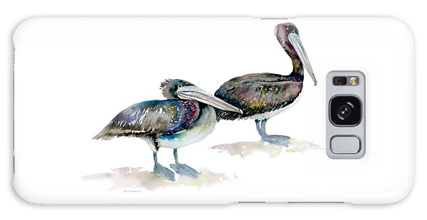Laurel And Hardy, Brown Pelicans Galaxy Case