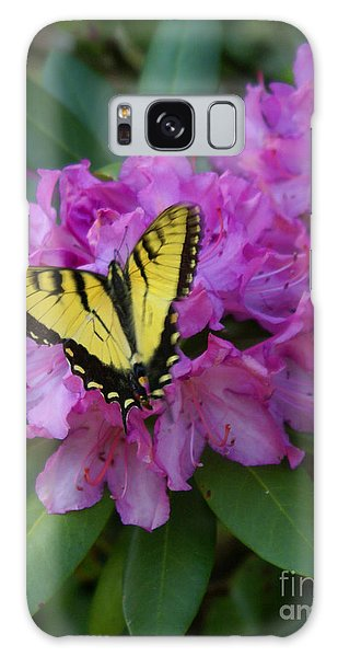 Laurel Bloom Butterfly Vertical Galaxy Case by Annlynn Ward