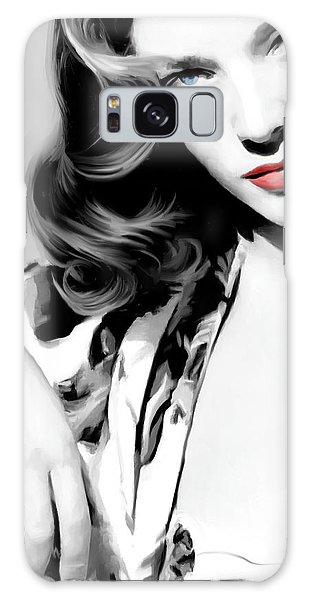 Lauren Bacall Large Size Portrait 2 Galaxy Case