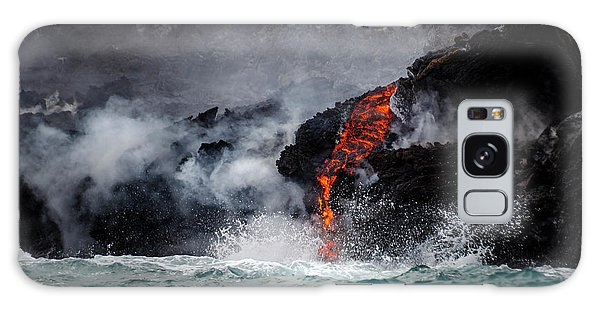 Lava Dripping Into The Ocean Galaxy Case