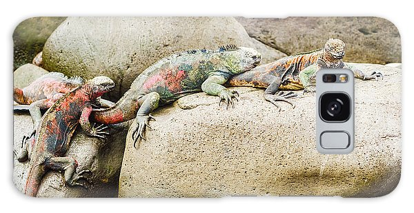 Lava Lizard On Galapagos Islands Galaxy Case