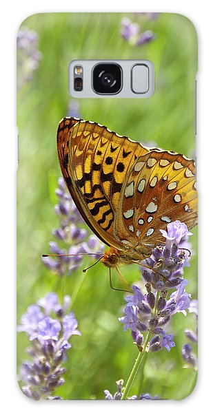 Lavender And Butterfly 2 Galaxy Case