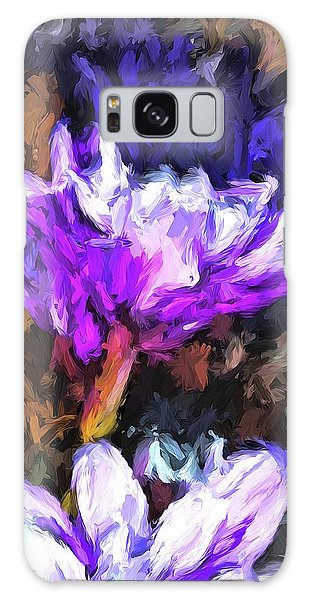 Lavender And White Flower With Reflection Galaxy Case