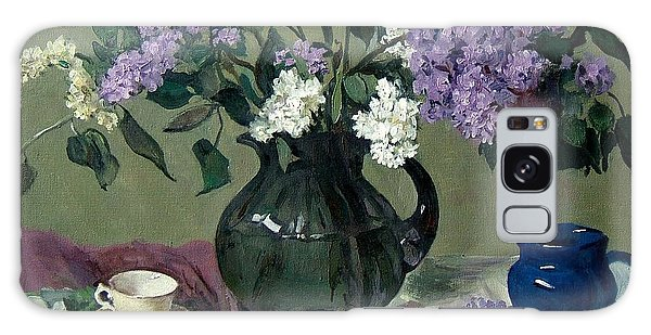 Lavender And White Lilacs With Blue Creamer And Teacup Galaxy Case