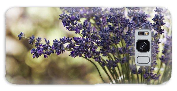 Lavender Bokeh Galaxy Case