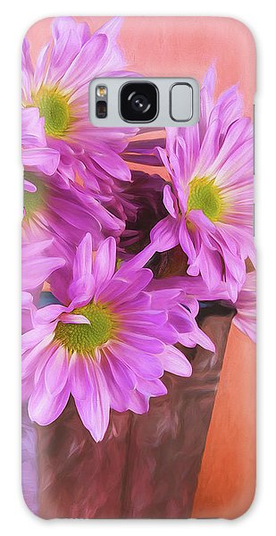 Daisy Galaxy Case - Lavender Daisies by Tom Mc Nemar