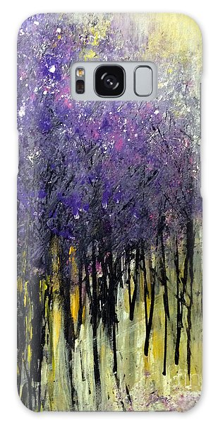 Galaxy Case featuring the painting Lavender Dreams by Priti Lathia