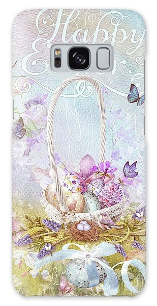 Lavender Easter Galaxy Case by Mo T