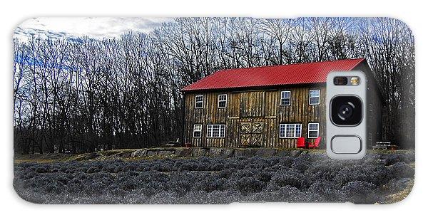 Lavender Farm Galaxy Case