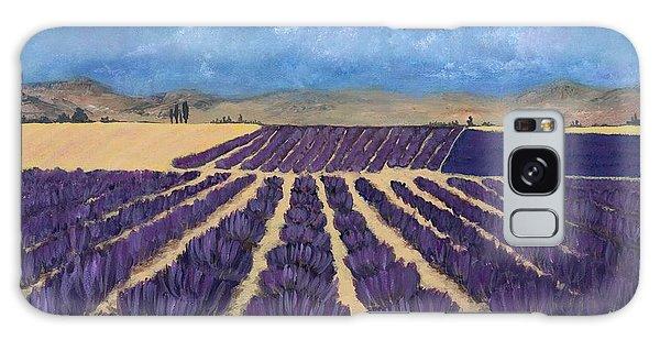 Lavender Field Galaxy Case by Anastasiya Malakhova