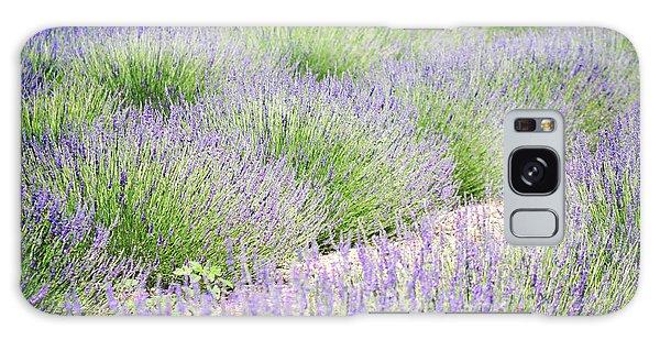 Lavender Field Farm Landscape Galaxy Case by Andrea Hazel Ihlefeld