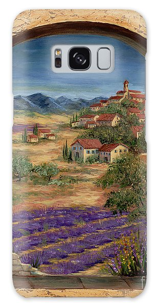 Arched Galaxy Case - Lavender Fields And Village Of Provence by Marilyn Dunlap