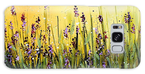 Lavender Garden Galaxy Case by Marti Green