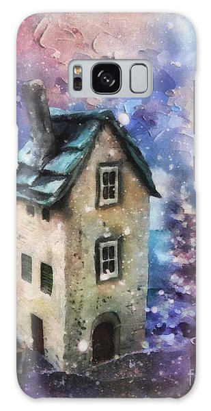 Lavender Hill Galaxy Case by Mo T