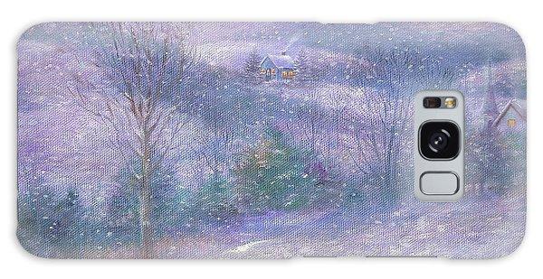 Lavender Impressionist Snowscape Galaxy Case