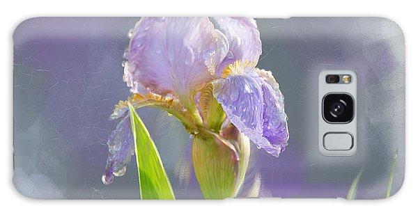 Lavender Iris In The Morning Sun Galaxy Case