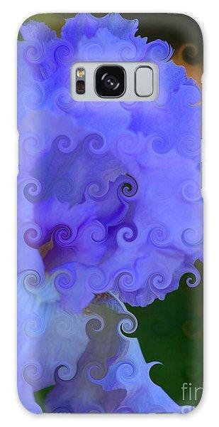 Lavender Curlicue Iris  Galaxy Case