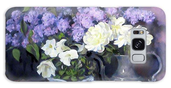 Lavender Lilacs, White Peonies, White Lisianthus, Galaxy Case