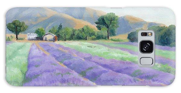 Lavender Lines Galaxy Case