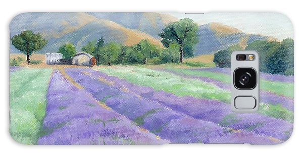 Lavender Lines Galaxy Case by Sandy Fisher