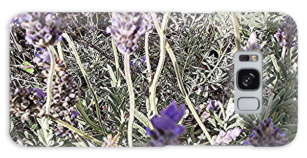 Galaxy Case featuring the digital art Lavender Moment by Winsome Gunning