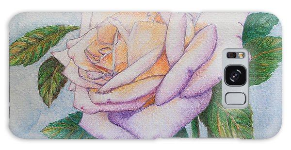 Lavender Rose Galaxy Case by Marna Edwards Flavell