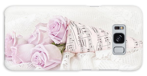 Lavender Roses And Music Galaxy Case by Sandra Foster