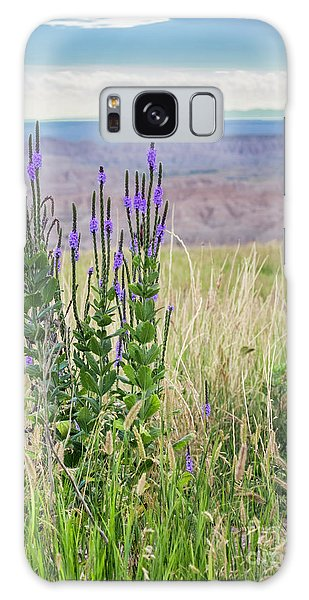 Lavender Verbena And Hills Galaxy Case