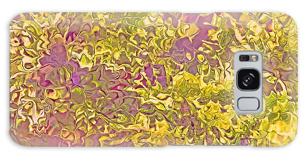 Lavender Yellow Abstract Galaxy Case