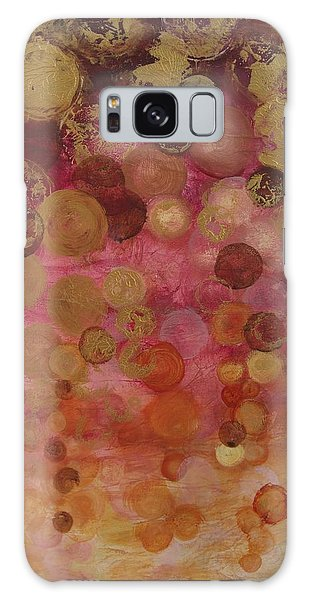 Layers Of Circles On Red Galaxy Case by Kristen Abrahamson