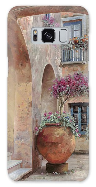 Arched Galaxy Case - Le Arcate In Cortile by Guido Borelli