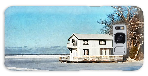 Leacock Boathouse In Winter Galaxy Case