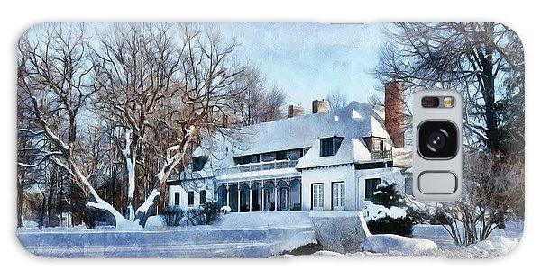 Leacock Museum In Winter Galaxy Case