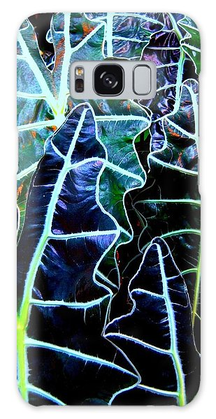 Leaf Patterns Galaxy Case by Shirley Sirois