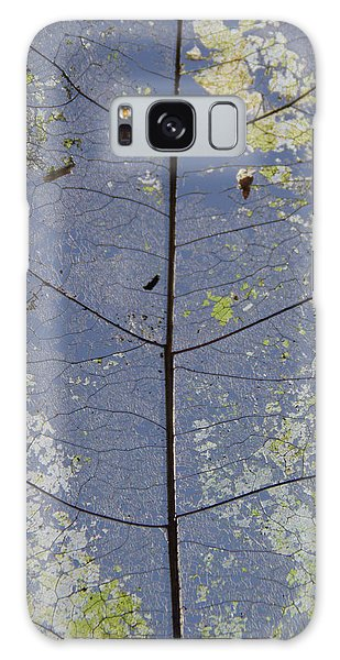 Galaxy Case featuring the photograph Leaf Structure by Debbie Cundy